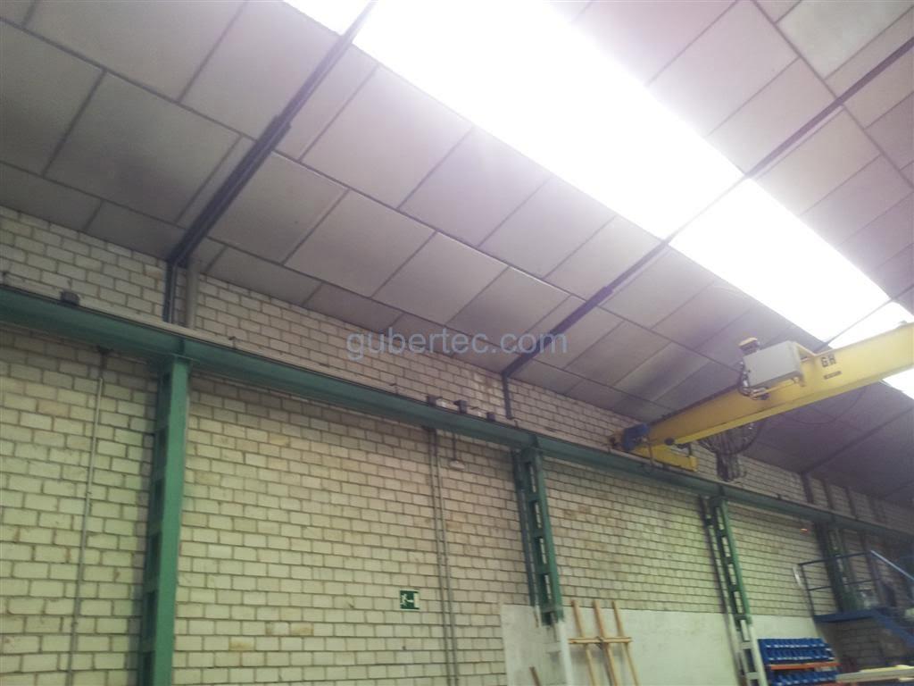 Reparaci n de falso techo de cubierta de nave industrial - Tipos de falsos techos ...